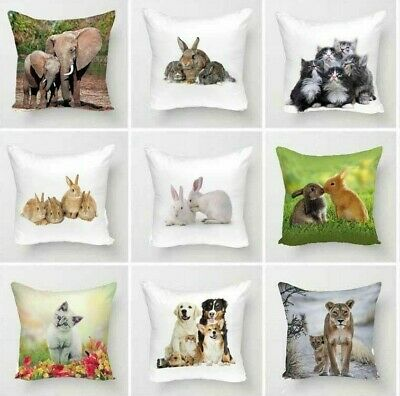 3D Digital Animal Nature Printed Cushion Cover Only Or Inner Home Sofa Decor Zip • 6.45£