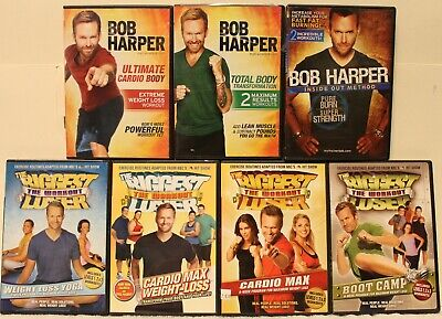 7 Bob Harper The Biggest Loser Workout DVD Lot Boot Camp Cardio Max Total Body • 21.70£