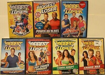 NEW 7 The Biggest Loser Workout DVD Lot Power Ab Blast Weight Loss Yoga Power  • 25.32£