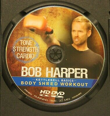 Bob Harper Kettlebell Basics Body Shred Workout (DVD ONLY) Tone Strength Cardio • 35.34£