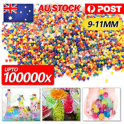 AU5.95 • Buy 100000Pcs Water Beads Gel Balls Orbeez Crystal Soil Plant Wedding Decoration AU