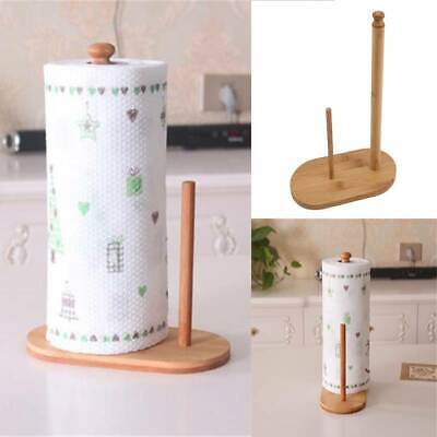 AU13.04 • Buy Dispenser Roll Free Standing Wooden Toilet Paper Holder Tissue Paper Stand L