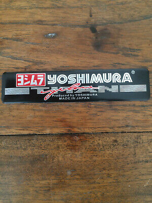 Yoshimura Aluminium Heatproof Exhaust Sticker/Decal  • 3.99£