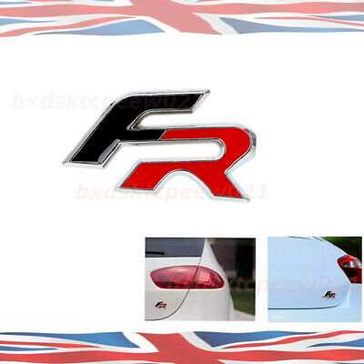 1pc Replacement Fr Badge Black Red Seat Racing Cupra Ibiza Leon Tdi • 4.69£
