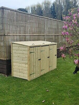Double/ Triple/ Quad Wheelie Bin Tidy Store/shed With Recycle Box • 250£