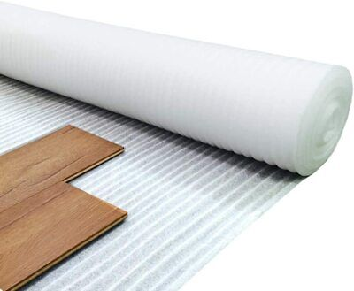 Royale - 2mm White Foam Underlay For Any Laminate/Real Wood Floor - 1m X 15m • 14.99£
