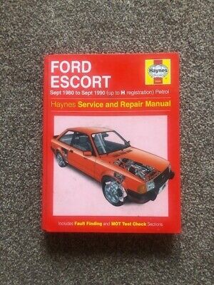 Haynes Service And Repair Manual - Ford Escort Sept 1980 To Sept 1990 Petrol • 9.99£