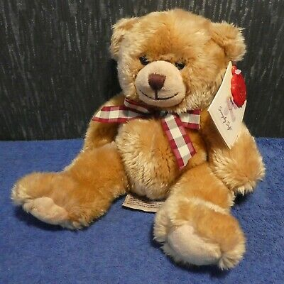 £7 • Buy Soft Plush Charlie Bear With Ribbon From Keel Toys Simply Soft Collection