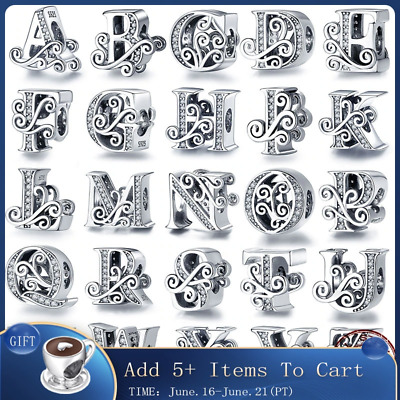 AU12.32 • Buy Authentic Pandora 925 Sterling Silver All Letters Charms Beads Bracelets Jewelry