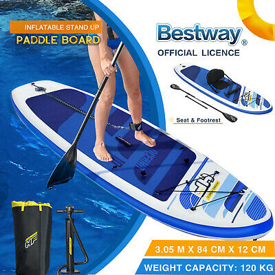 AU419 • Buy Bestway Surfboard Sup Inflatable Stand Up Paddle Board Kayak Paddle Pump