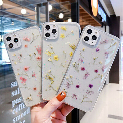 AU12.49 • Buy Cute Case For IPhone 12 Pro Max 12 Mini 11 Pro XS 7 8+ Glitter Real Dried Flower