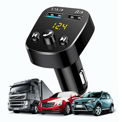 AU12.99 • Buy ✅Handsfree Bluetooth Wireless FM Transmitter Car Kit Mp3 Player USB Charger