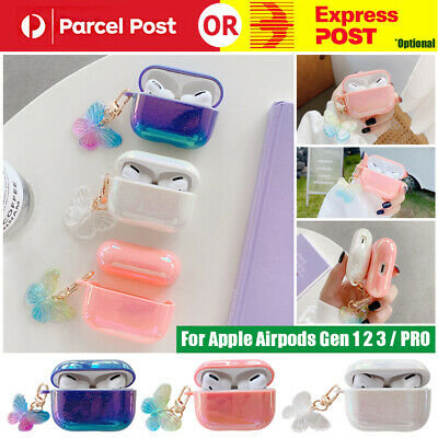AU11.99 • Buy For Apple Airpods 1 2 3 PRO  Cute Butterfly Case Girls Shockproof Hard PC Cover