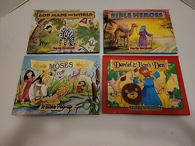 £12.07 • Buy Childrens Books Set Of 4 Bible Story Pop-up Books (Hardcover)