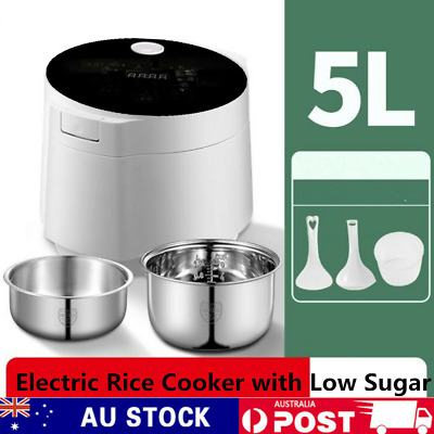 AU135 • Buy 5L Electric Rice Cooker With Low Sugar Rice Multi Function