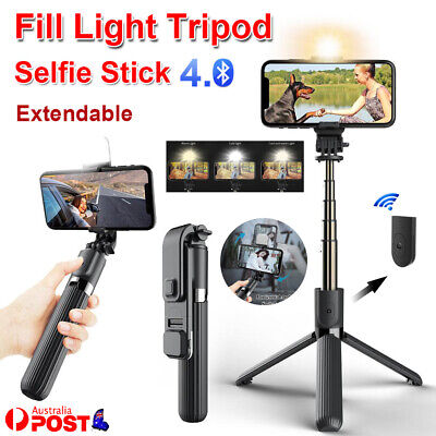 AU24.99 • Buy 4 In 1 Tripod Selfie Stick With Bluetooth Remote LED Fill Light For Smartphone