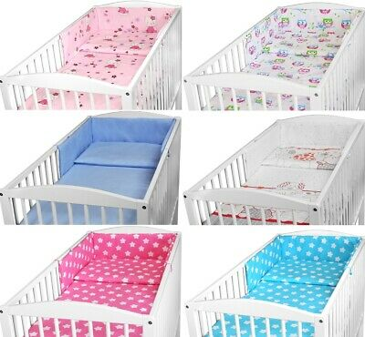 £11.99 • Buy BABY BEDDING SET TO FIT 120x60 COT 2 3 5 6 PC PILLOW DUVET BUMPER MANY DESIGNS