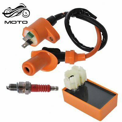 $11.97 • Buy New Racing Ignition Coil Spark Plug CDI For Gy6 Scooter ATV TaoTao 50cc -150cc