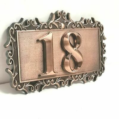 AU16.51 • Buy Customized Number Door Plate 2 Digits ABS Plastic 3D Home Sticker Address Plaque