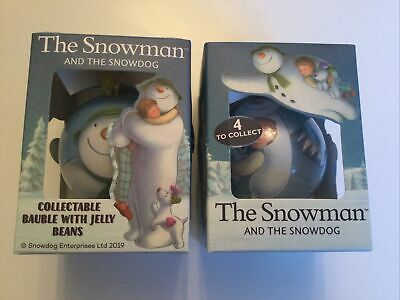 Raymond Briggs The Snowman And The Snowdog Christmas Baubles With Jelly Bean • 8.70£