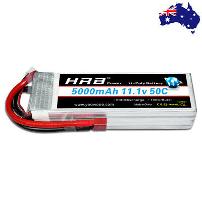 AU64.57 • Buy HRB 5000mAh 3S 50C LiPo Battery 11.1V Deans For RC Drone Car Boat Helicopter FPV