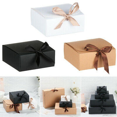 5Pcs Square Kraft Paper Box Cardboard Package Valentine's Day Gift Candy Storage • 4.49£