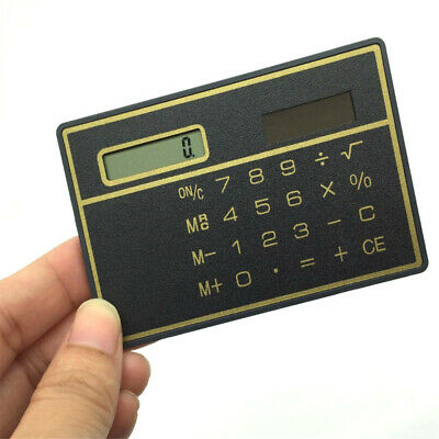 8 Digits Ultra Thin Mini Slim Credit Card Solar Power Pocket Calculator • 2.27£