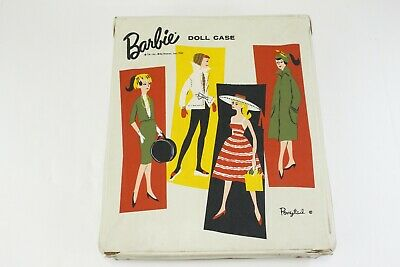 $ CDN20.54 • Buy Vintage 1961 Barbie Ponytail White Vinyl Carrying Storage Case