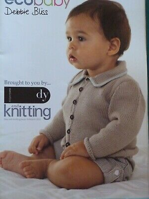 Debbie Bliss 'Eco Baby' 4ply Knitting Pattern Booklet Birth/24 Months 6 Designs • 1.99£