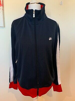 Womens Blue Nike Tracksuit / Track Jacket Top - Size Extra Large (XL) H28 • 12.99£