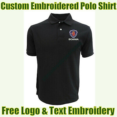 £14.99 • Buy NEW Custom Embroidered Polo Shirt With Scania Logo Garage & Technicians Names