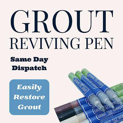 Grout Pen Anti-Mould Reviver Repair Restoration Kit Whitener Renew Black Grey • 2.45£
