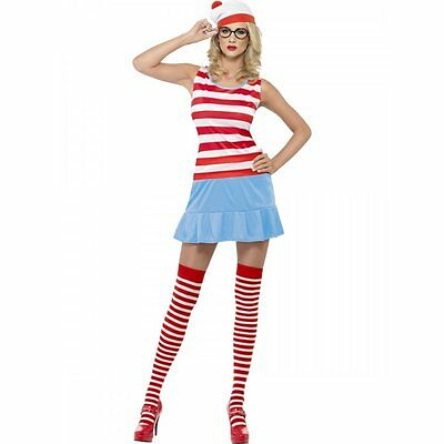 £16.99 • Buy Ladies Where's Wenda (Where's Wally) Official Book Day Fancy Dress XS UK 4-6
