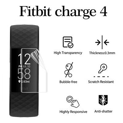AU2.03 • Buy Screen Protector TPU Protective Film Full Cover For Fitbit Charge 4 Smart Band