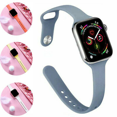 $ CDN5.35 • Buy Silicone Band For Apple Watch Series 6 5 4 3 IWatch SE Bracelet Strap Slim 2021
