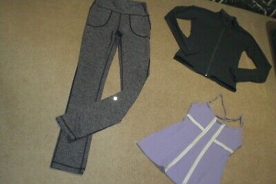 $ CDN70 • Buy  Lot Of Lululemon Will Pants, Shape Jacket And Tank Sz 6