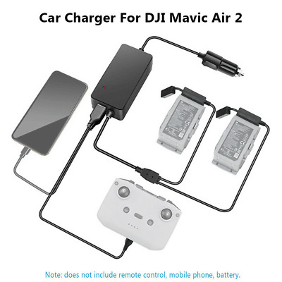 AU40.99 • Buy Fast Charging Car Charger Battery Charging Hub Adapter For DJI Mavic Air 2 Drone