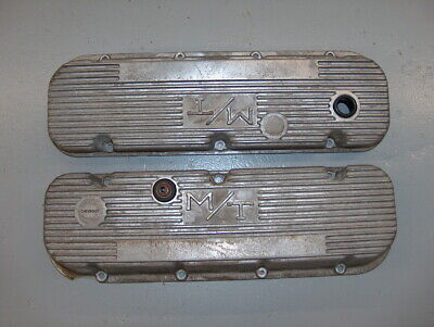$95 • Buy Holley M/T Mickey Thompson BBC Aluminum Finned Valve Covers Chevy 427 454 W/Chip
