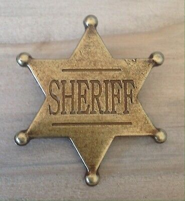 £7.99 • Buy Gold 6 Point Sheriff Badge / Shield