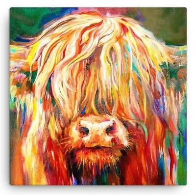 £14.99 • Buy Baby Highland Cow Canvas