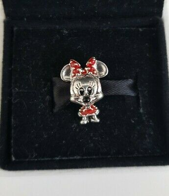 Little Minnie Mouse In Red Dress Silver S925 Charm Pandora Gift • 6.50£