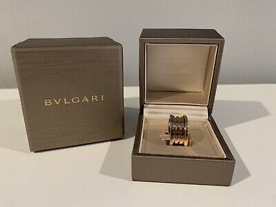 AU2066.83 • Buy Bvlgari B Zero Ring Size 55 NIB Authentic 18k Rose, White, Yellow Gold