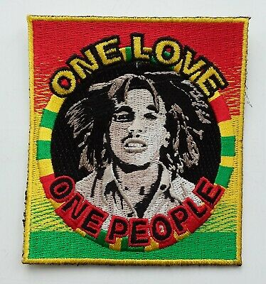 BOB MARLEY PATCH Cloth Badge Legend Jamaica Rasta One Love One People Jah Ganja • 2.99£