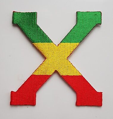 RASTA COLOURS MALCOLM X PATCH Cloth Badge/Emblem Rastafarian Flag Africa Jah • 2.99£