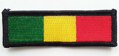 RASTA COLOURS PATCH Cloth Badge/Emblem Biker Jacket Rastafarian Flag Africa Jah • 2.69£