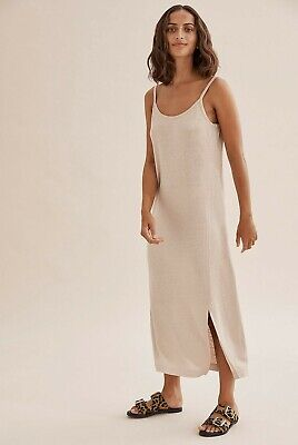 AU39 • Buy COUNTRY ROAD LINEN BLEND SLIP  DRESS In Natural RRP$119