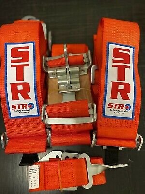 AU189.99 • Buy  5 POINT HARNESS ORANGE ,clip In/outs NASCAR LATCH ,SPEEDWAY,RACECAR , SFI RATED