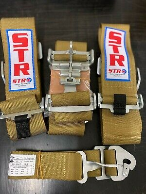 AU189.99 • Buy  5 POINT HARNESS GOLD ,clip In/outs NASCAR LATCH ,SPEEDWAY,RACECAR , SFI RATED