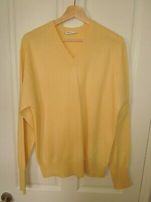 N Peal 100% Cashmere Jumper In Yellow. Size S  • 64.99£