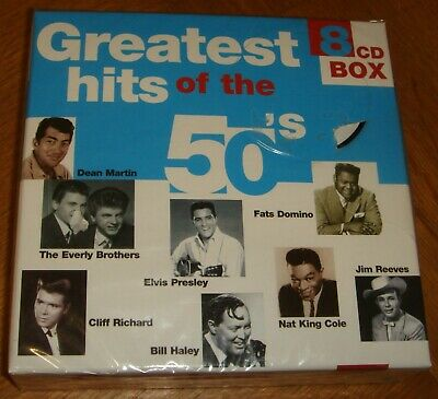 Greatest Hits Of The 50s  8xCD Set, 160 Tracks, Elvis, Cochran, Vincent, Lewis  • 11.99£